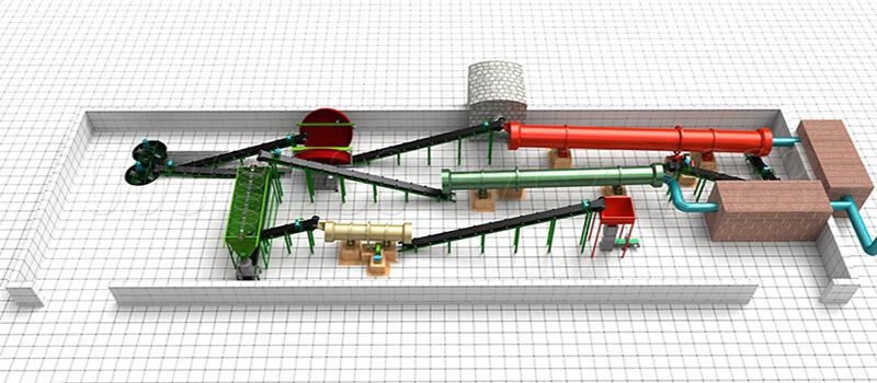 manure making machine for fertilizer granules processing
