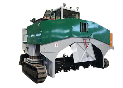 2.3m crawler type organic waste compost windrow turner