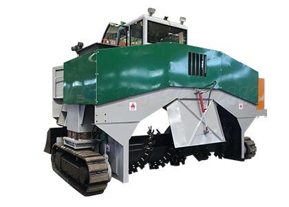 2.3m crawler type organic waste compost windrow turner