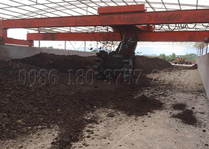 3m wheel type waste turner for organic compost production