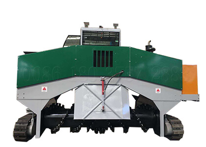 Crawler type organic waste composting equipment