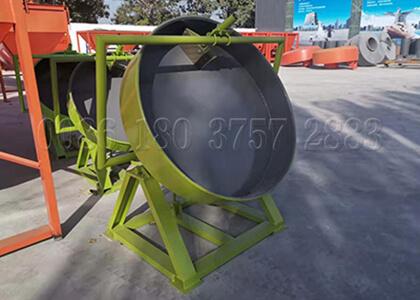 Disc pan granulator machine for powdery materials