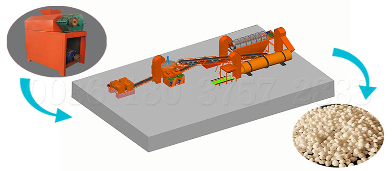 Roller extrusion granulator fertilizer making line