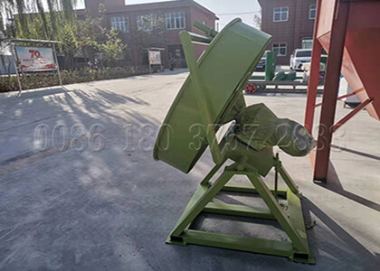 chicken manure fertilizer pan granulation machine