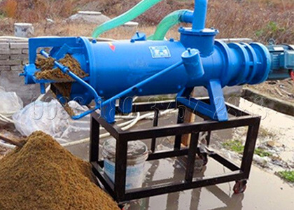 dewatering machine for cow dung fertilizer processing