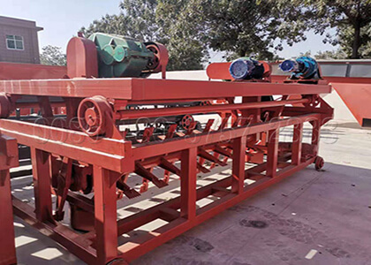 groove type cow dung composting equipment