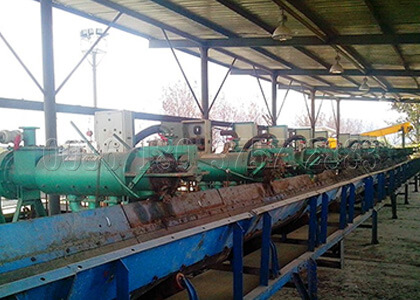 organic manure waste dewatering machine