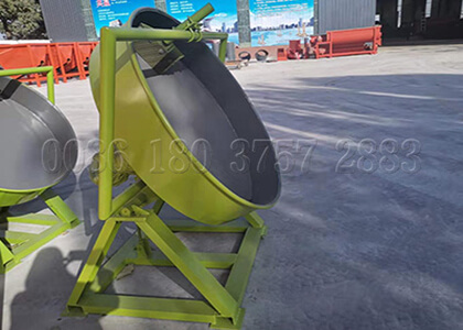 pan granulator for cow dung fertilizer granules making