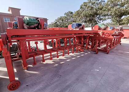 trench composting machine for cow dung compost making